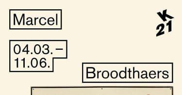 Marcel Broodthaers, Ein Retrospektive, 4 mars-11 juin 2017, K21 Kunstsammlung, Düsseldorf