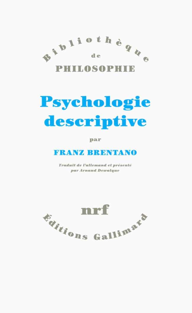 Franz Brentano, Psychologie descriptive