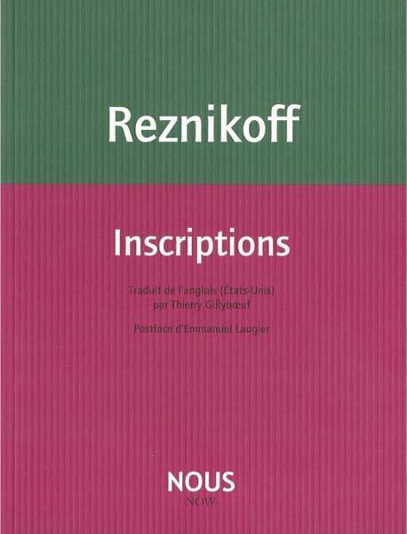 Charles Reznikoff, Inscriptions