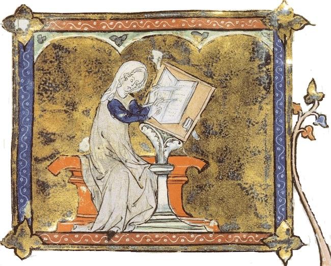 Première page d'un manuscrit desFablesde Marie de France, XIIIe siècle